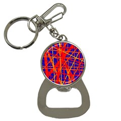 Orange And Blue Pattern Bottle Opener Key Chains by Valentinaart