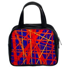 Orange And Blue Pattern Classic Handbags (2 Sides) by Valentinaart