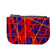 Orange And Blue Pattern Mini Coin Purses by Valentinaart