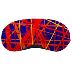 Orange And Blue Pattern Sleeping Masks by Valentinaart