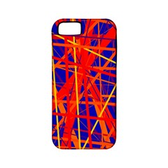 Orange And Blue Pattern Apple Iphone 5 Classic Hardshell Case (pc+silicone) by Valentinaart