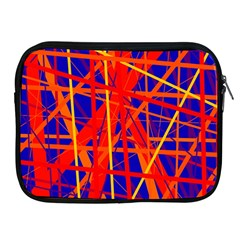 Orange And Blue Pattern Apple Ipad 2/3/4 Zipper Cases