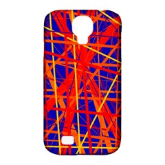 Orange And Blue Pattern Samsung Galaxy S4 Classic Hardshell Case (pc+silicone) by Valentinaart