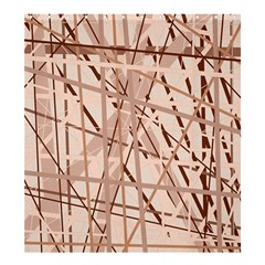 Brown Pattern Shower Curtain 66  X 72  (large)  by Valentinaart
