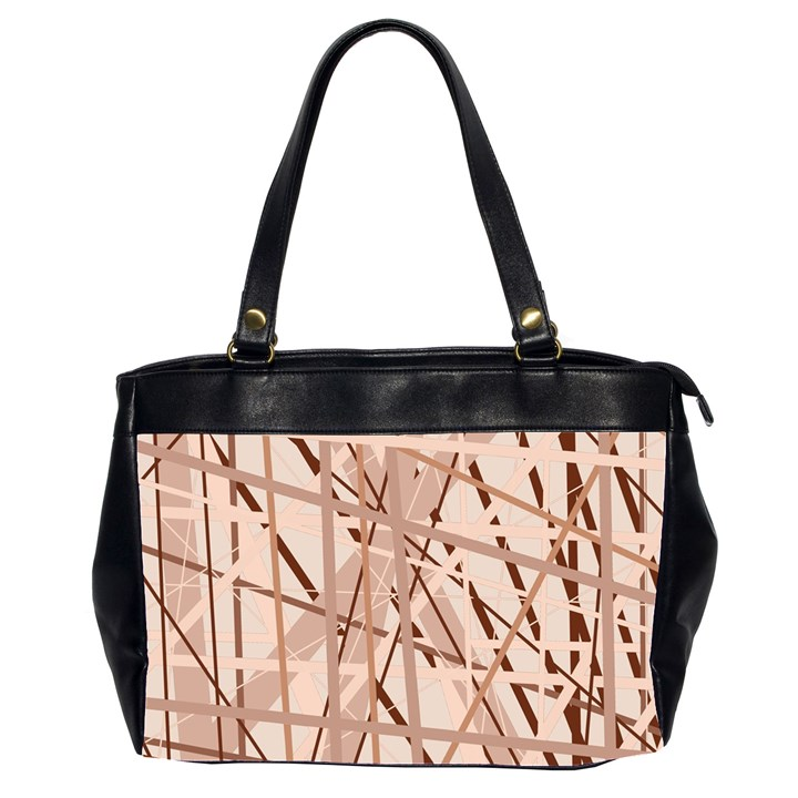 Brown pattern Office Handbags (2 Sides)