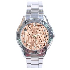 Brown Pattern Stainless Steel Analogue Watch by Valentinaart