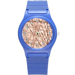 Brown Pattern Round Plastic Sport Watch (s) by Valentinaart