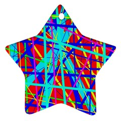 Colorful Pattern Ornament (star)  by Valentinaart