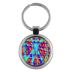 Colorful Pattern Key Chains (round)  by Valentinaart