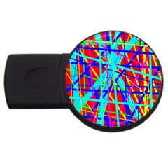 Colorful Pattern Usb Flash Drive Round (4 Gb)  by Valentinaart
