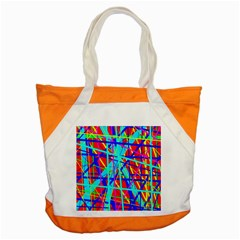 Colorful Pattern Accent Tote Bag by Valentinaart