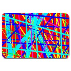 Colorful Pattern Large Doormat  by Valentinaart