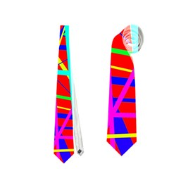 Colorful Pattern Neckties (one Side)  by Valentinaart