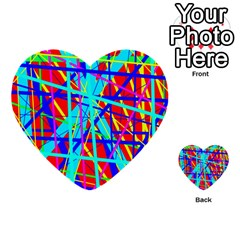 Colorful Pattern Multi Purpose Cards (heart)  by Valentinaart