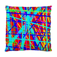Colorful Pattern Standard Cushion Case (one Side) by Valentinaart