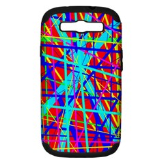 Colorful Pattern Samsung Galaxy S Iii Hardshell Case (pc+silicone) by Valentinaart