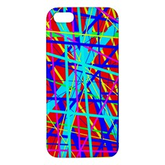 Colorful Pattern Apple Iphone 5 Premium Hardshell Case by Valentinaart