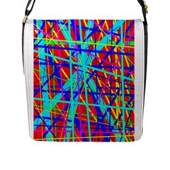 Colorful Pattern Flap Messenger Bag (l)  by Valentinaart