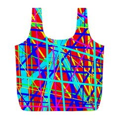Colorful Pattern Full Print Recycle Bags (l)  by Valentinaart