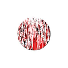 Red, Black And White Pattern Golf Ball Marker (4 Pack) by Valentinaart