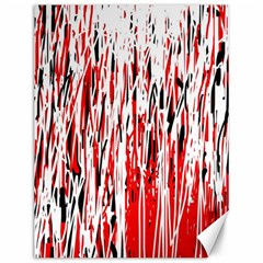 Red, Black And White Pattern Canvas 12  X 16   by Valentinaart