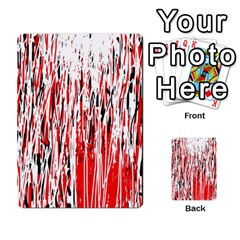 Red, Black And White Pattern Multi Purpose Cards (rectangle)