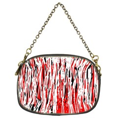 Red, Black And White Pattern Chain Purses (two Sides)  by Valentinaart