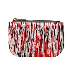 Red, Black And White Pattern Mini Coin Purses by Valentinaart