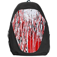 Red, Black And White Pattern Backpack Bag by Valentinaart