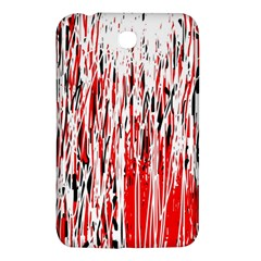 Red, Black And White Pattern Samsung Galaxy Tab 3 (7 ) P3200 Hardshell Case  by Valentinaart