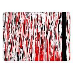 Red, Black And White Pattern Samsung Galaxy Tab Pro 12 2  Flip Case by Valentinaart