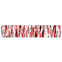 Red, Black And White Pattern Flano Scarf (small) by Valentinaart