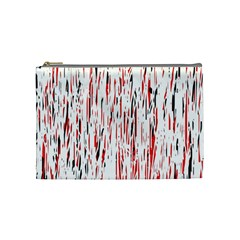 Red, Black And White Pattern Cosmetic Bag (medium)  by Valentinaart