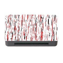 Red, Black And White Pattern Memory Card Reader With Cf by Valentinaart