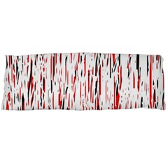 Red, Black And White Pattern Body Pillow Case (dakimakura) by Valentinaart