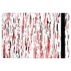 Red, Black And White Pattern Ipad Air 2 Flip by Valentinaart