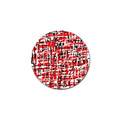 Red, White And Black Pattern Golf Ball Marker (10 Pack) by Valentinaart
