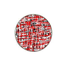 Red, White And Black Pattern Hat Clip Ball Marker (10 Pack)