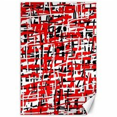 Red, White And Black Pattern Canvas 24  X 36  by Valentinaart