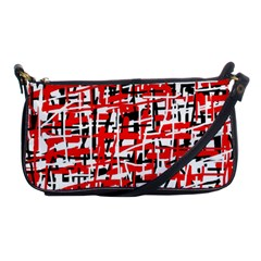 Red, White And Black Pattern Shoulder Clutch Bags by Valentinaart