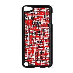 Red, White And Black Pattern Apple Ipod Touch 5 Case (black) by Valentinaart