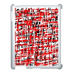Red, White And Black Pattern Apple Ipad 3/4 Case (white) by Valentinaart