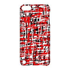 Red, White And Black Pattern Apple Ipod Touch 5 Hardshell Case With Stand by Valentinaart