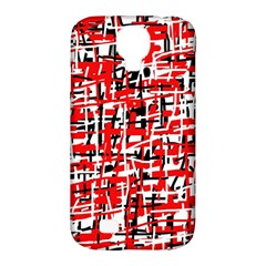 Red, White And Black Pattern Samsung Galaxy S4 Classic Hardshell Case (pc+silicone) by Valentinaart