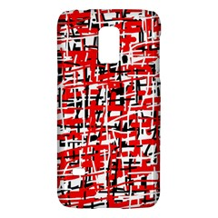 Red, White And Black Pattern Galaxy S5 Mini by Valentinaart