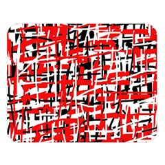 Red, White And Black Pattern Double Sided Flano Blanket (large)  by Valentinaart