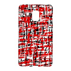 Red, White And Black Pattern Galaxy Note Edge by Valentinaart