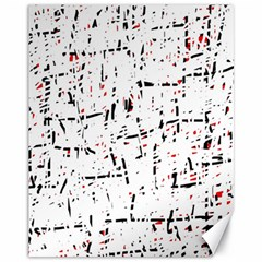 Red, White And Black Pattern Canvas 11  X 14   by Valentinaart