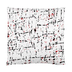 Red, White And Black Pattern Standard Cushion Case (two Sides) by Valentinaart