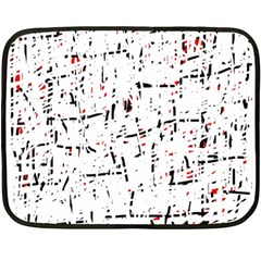 Red, White And Black Pattern Double Sided Fleece Blanket (mini)  by Valentinaart